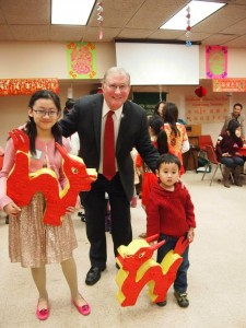 Image of Mayor and guests at Chinese New Years