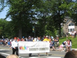 Image of Diversity Committee in parade