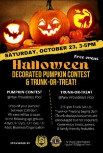 Pumpkin Decorating Contest and Trunk or Treat